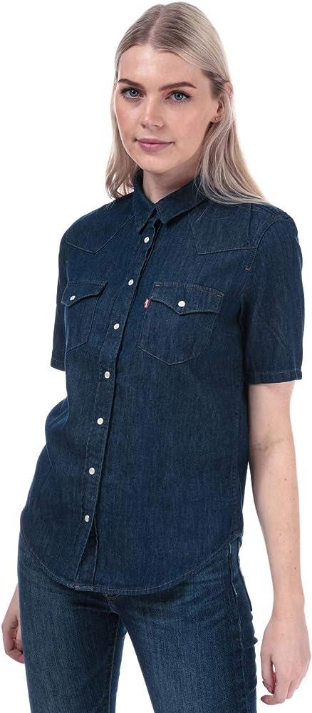 Levis Ultimate Ss Western - Camisa para mujer Azul azul 42: Amazon.es: Ropa y accesorios