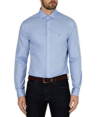 97bc42d384f Tommy Hilfiger Big Man s Business Shirt Smart Casual (16  Amazon.co ...
