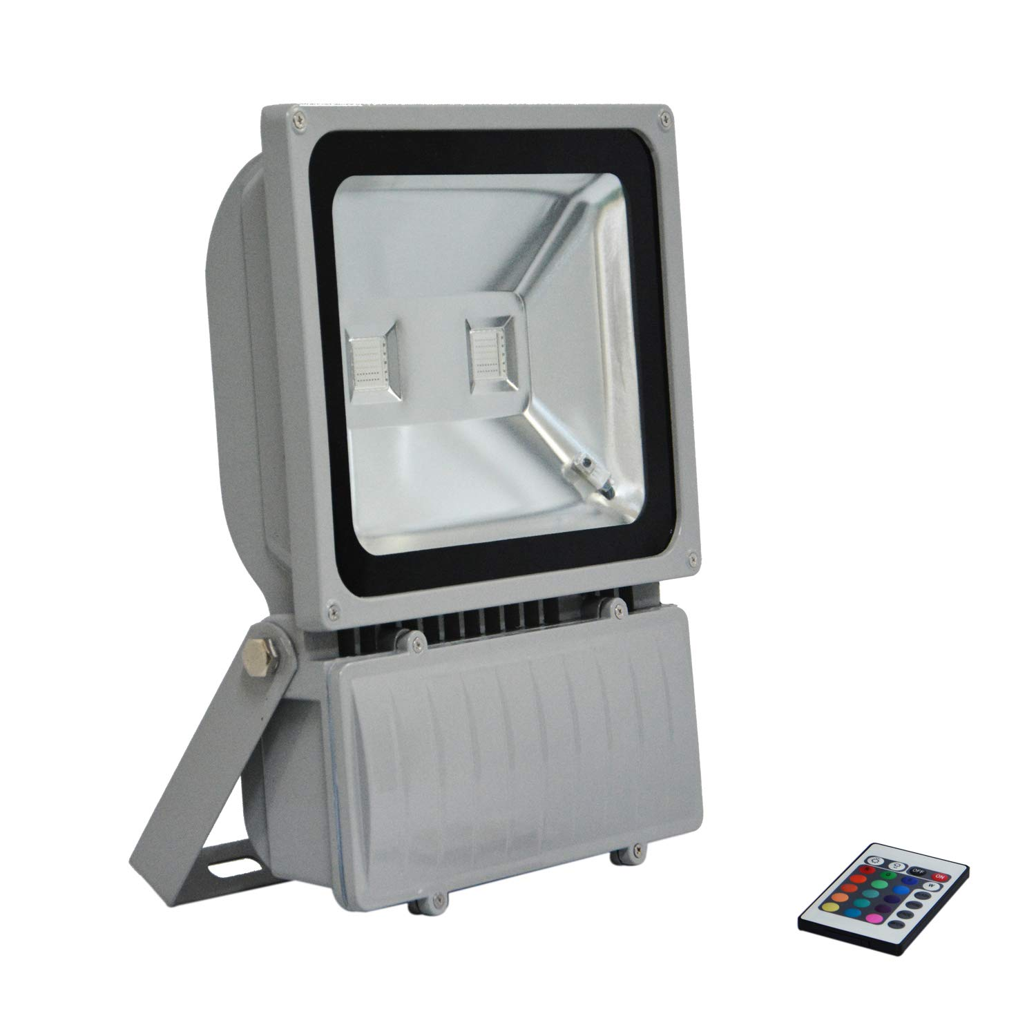 RSN LED RGB Flood Light Color Change AC85-265V with IR Remote Controller 100W High Power IP65 Waterproof 2 Years Warranty