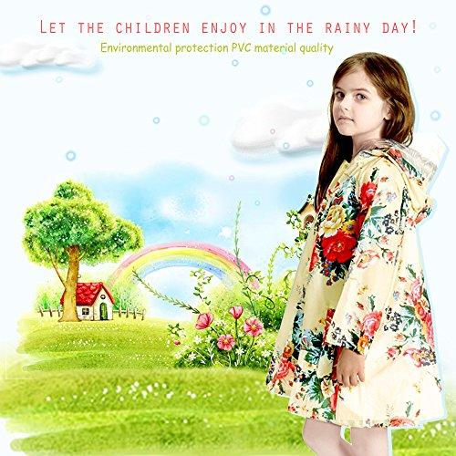 Kids-Peony-Print-Hooded-Waterproof-Raincoat-Rain-CoatsJacket-for-Girls-for-Boy