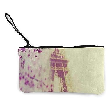 Amazon.com: Monedero de lona de primavera París Cherry ...