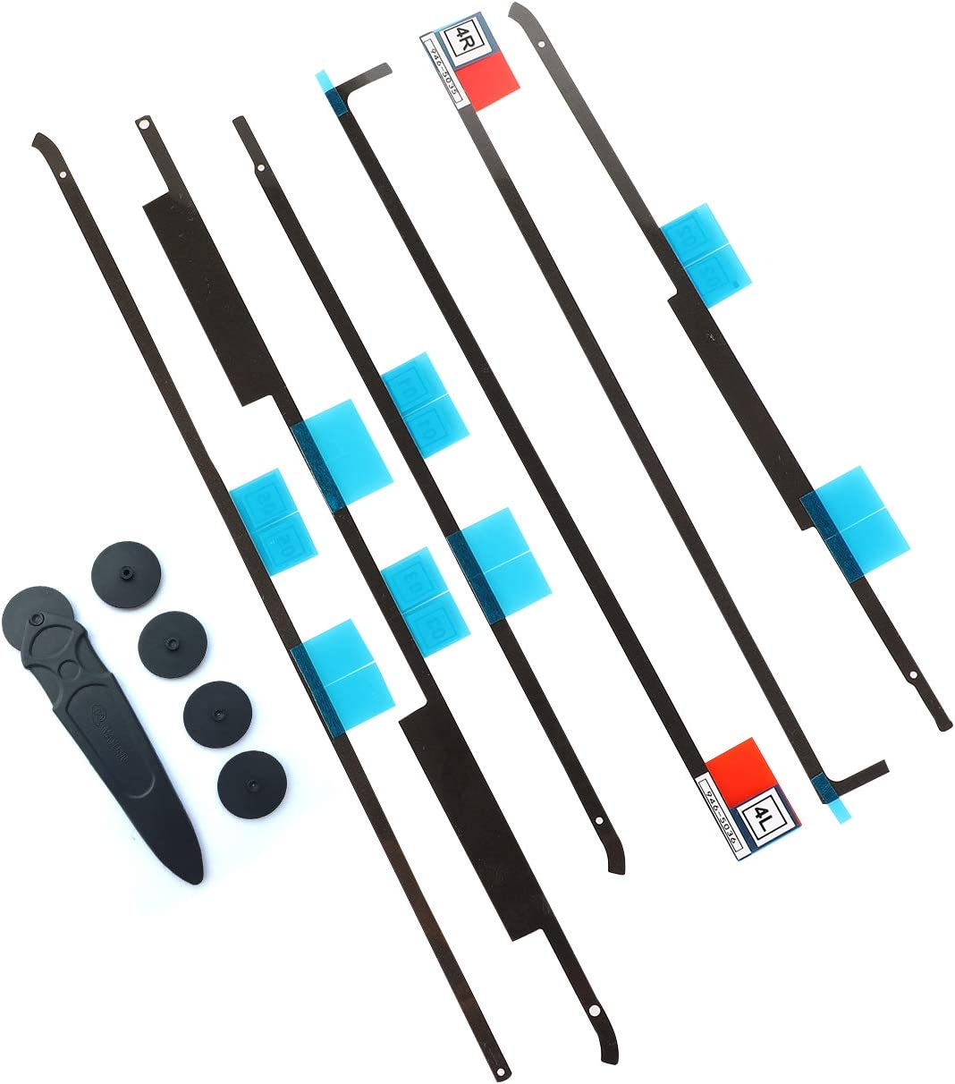 """LCD Adhesive Strip Kit (2 Sets), KKDAO LCD Screen Display Strips Stickers Replacement Tools + 2 Opening Wheel Tools, iMac 21.5"""" 2012/2013 / 2015/2017, A1418 (iMac 21.5 Inch-A1418)"""