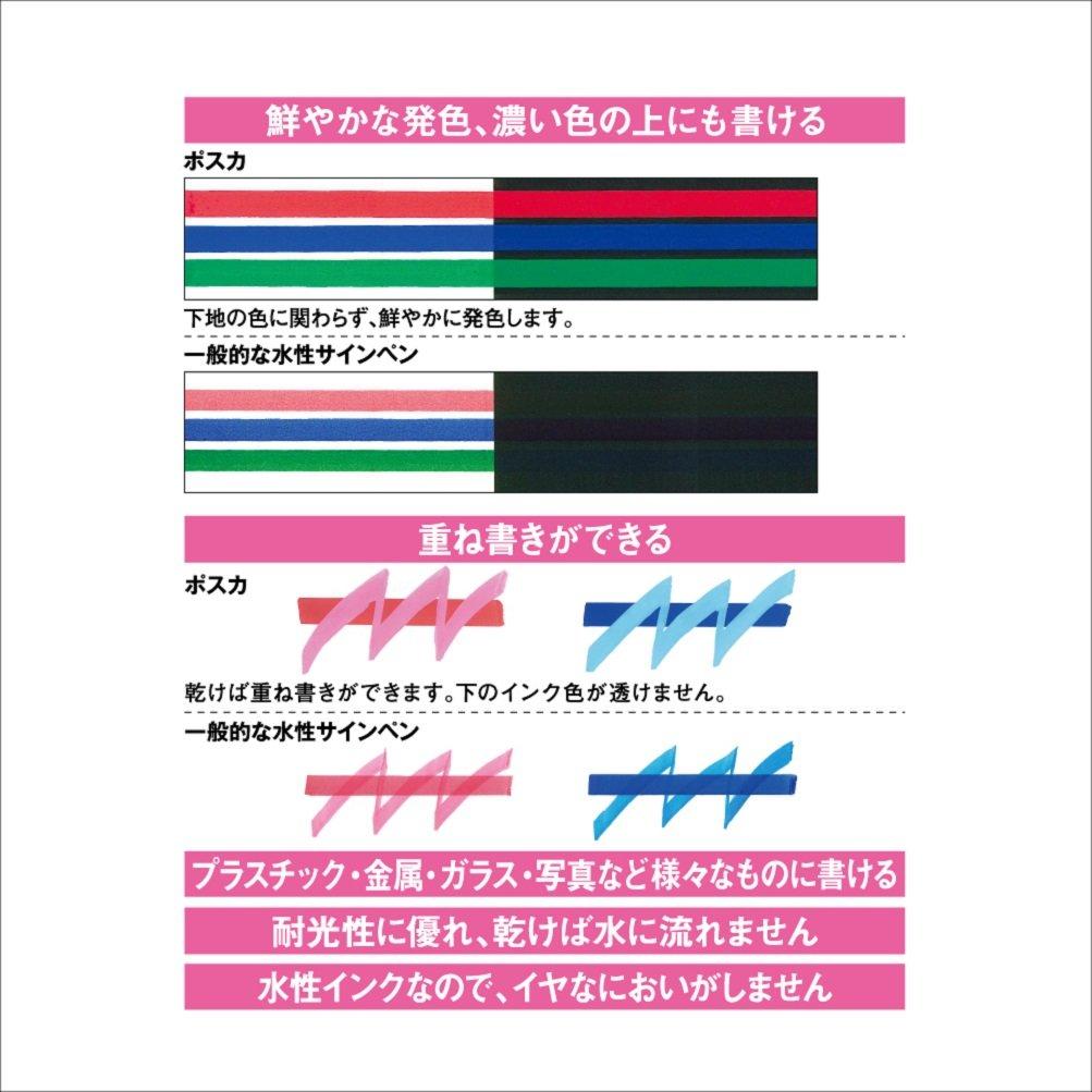 Uni-posca Pc8k8c Paint Marker Pen Bold Point Set of 8 (japan import)