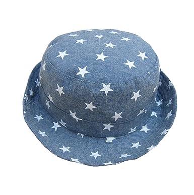 Cotton Fishermen Bucket Hat Boys Babies Children Stars Summer Sun Hat  Cowboy Hats a618530cc25