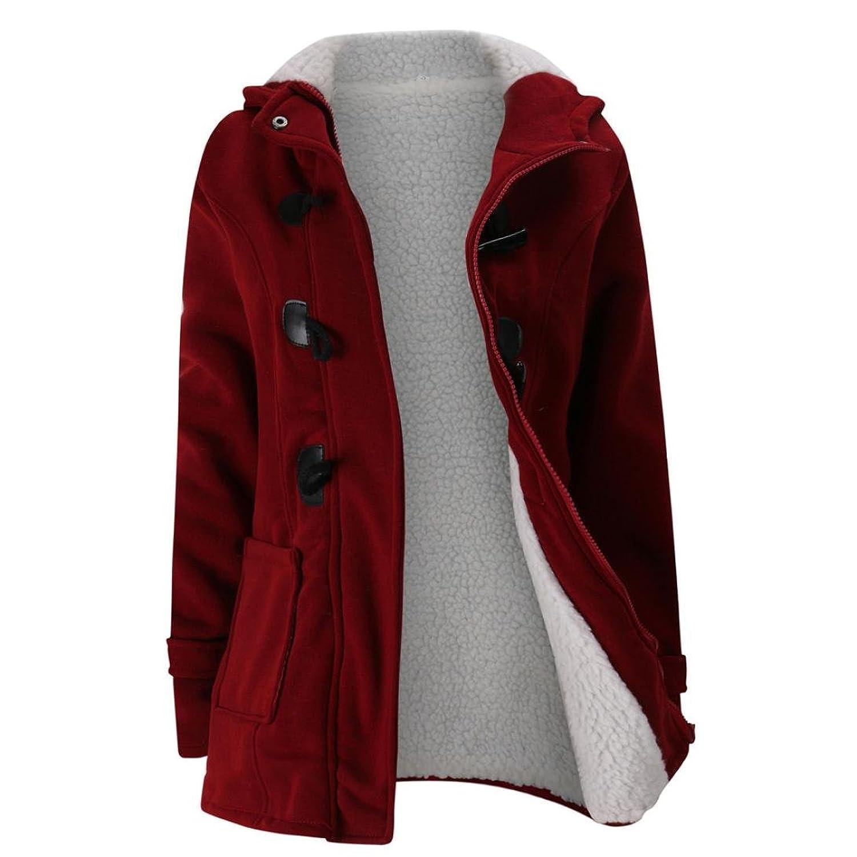 FAPIZI Women Coat Autumn Warm Wool Slim Coat Warm Hoodies Windbreaker Casual Solid Color Outwear Jacket Trench