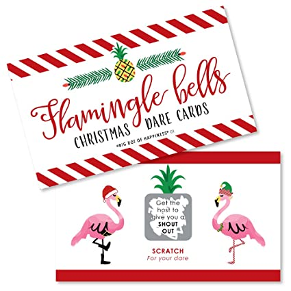 Tropical Christmas Party Ideas.Amazon Com Big Dot Of Happiness Flamingle Bells Tropical Flamingo