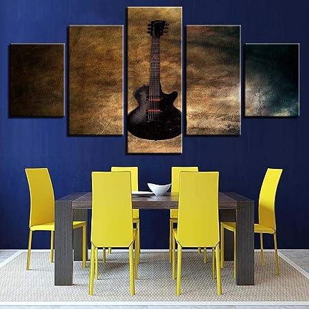 BAWAN Pintura Decorativa de Cinco Piezas de Guitarra Instrumento ...