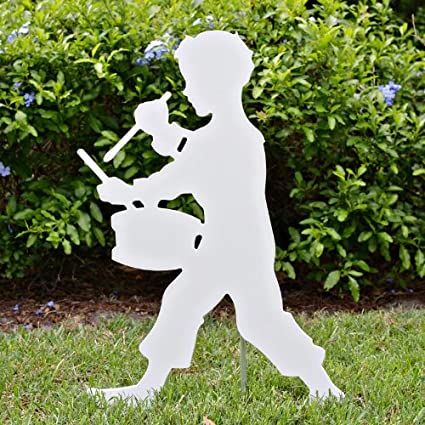 teak isle christmas outdoor drummer boy figure - Teak Isle Christmas Decorations