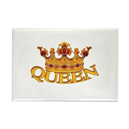CafePress - Corona Queen - Imán rectangular para refrigerador, 2 x ...