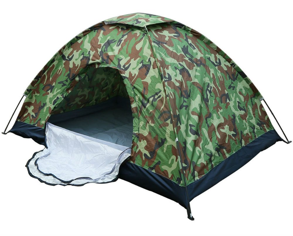 Camo-Outdoor-Camping-Waterproof-1-2-Person-Folding-Tent-Camouflage-Hiking