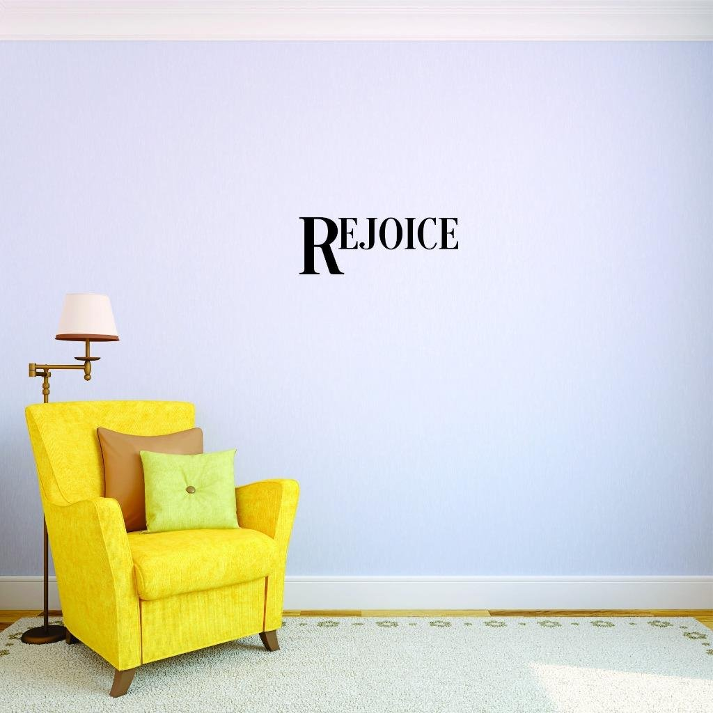 8 Inches X 30 Inches Color Design with Vinyl US V JER 2627 2 Top Selling Decals Rejoice Wall Art Size Black 8 x 30,
