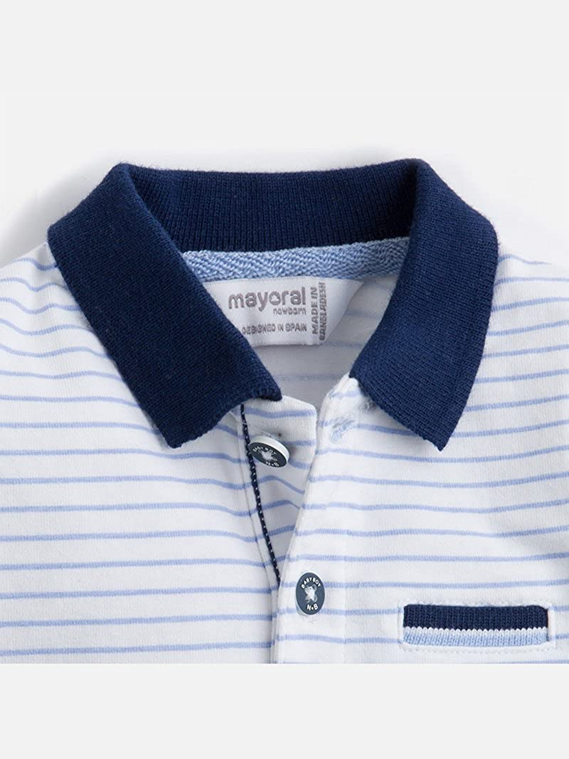 Mayoral S//s Printed Polo for Baby-Boys 1106 Sky Blue