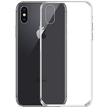 3685ae4494b50 NEW'C Coque pour iPhone X, [ Ultra Transparente Silicone en Gel TPU Souple