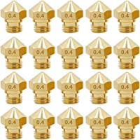 MK10 M7 Nozzle for 3D Printer, 20PCS Brass Extruder Head Hotend Nozzles 0.4mm, fit 1.75mm D4/I3