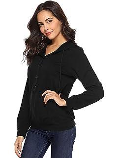 TECREW Womens Long Sleeve Loose Kangaroo Pockets Cute Cat Ear Pullover Hoodie Sweatshirt