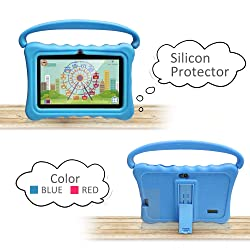 Tablet Case for Kids 7 Inch Kids Tablet Cases for Shock Proof Protective with Portable Convertible Handle Light Weight (Blue)