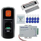 HFeng 125KHz RFID Fingerprint Lock Door Access Control System Kit Biometric Access Controller Support Mini SD Card