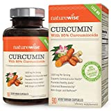 curcumin extract bioperine - NatureWise Curcumin Turmeric 1650mg with 95% Curcuminoids & BioPerine Black Pepper Extract, Advanced Absorption, Cardiovascular & Healthy Joints Support, Gluten-Free, Non-GMO, 90 Count