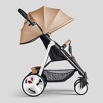 Opinión sobre ZYC-WF Bicicletas Niños, Niños de Bicicletas Bicicletas Cochecito de Bebé de la Compra Puede Sentarse/Lie M Plegable de la Carretilla de Acero Blanco Portátil Ajustado Parasol Toldo de Protección S