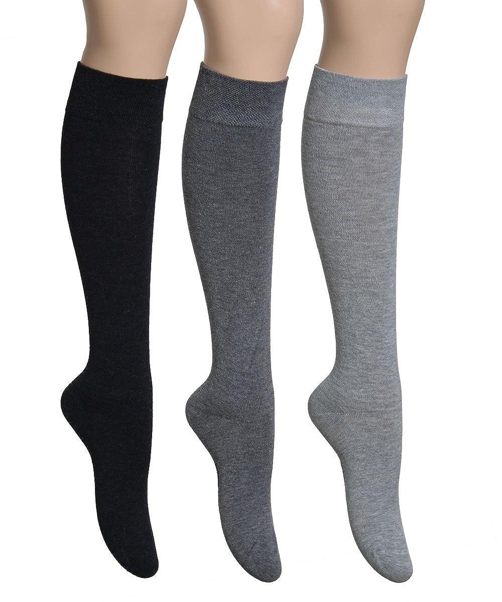 Homme hauteur genou Pack de 6 paires en 7 couleurs Vitasox Chaussettes confort 43//46 6xargent/é