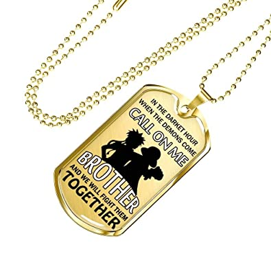 AZ Gifts Luxury Dog Tag Best Friend Gang Gift Big Brother Necklace Chain Fan One Piece