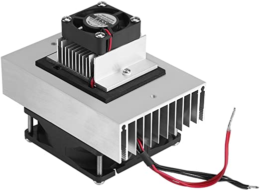 Portable Cooling Module 12V 10A 120W,Semiconductor Refrigeration Pieces Kit Thermoelectric Peltier Air Cooling Device with 12706 Chip for Pet Bed Cooling Small Space Cooler