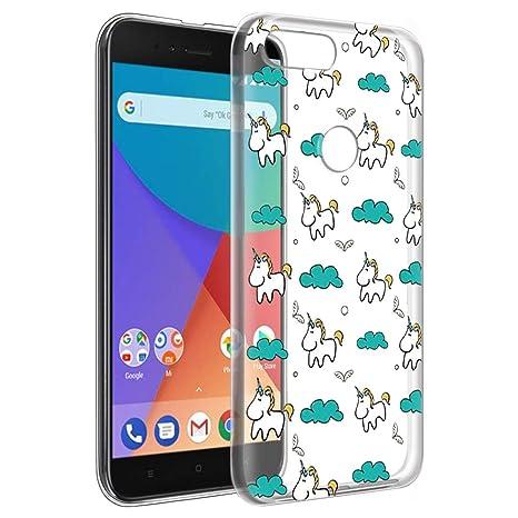 0441e530cb8 Eouine Funda Xiaomi A1, Cárcasa Ultrafina Silicona 3D Transparente con  Dibujos Impresión Patrón [Antigolpes