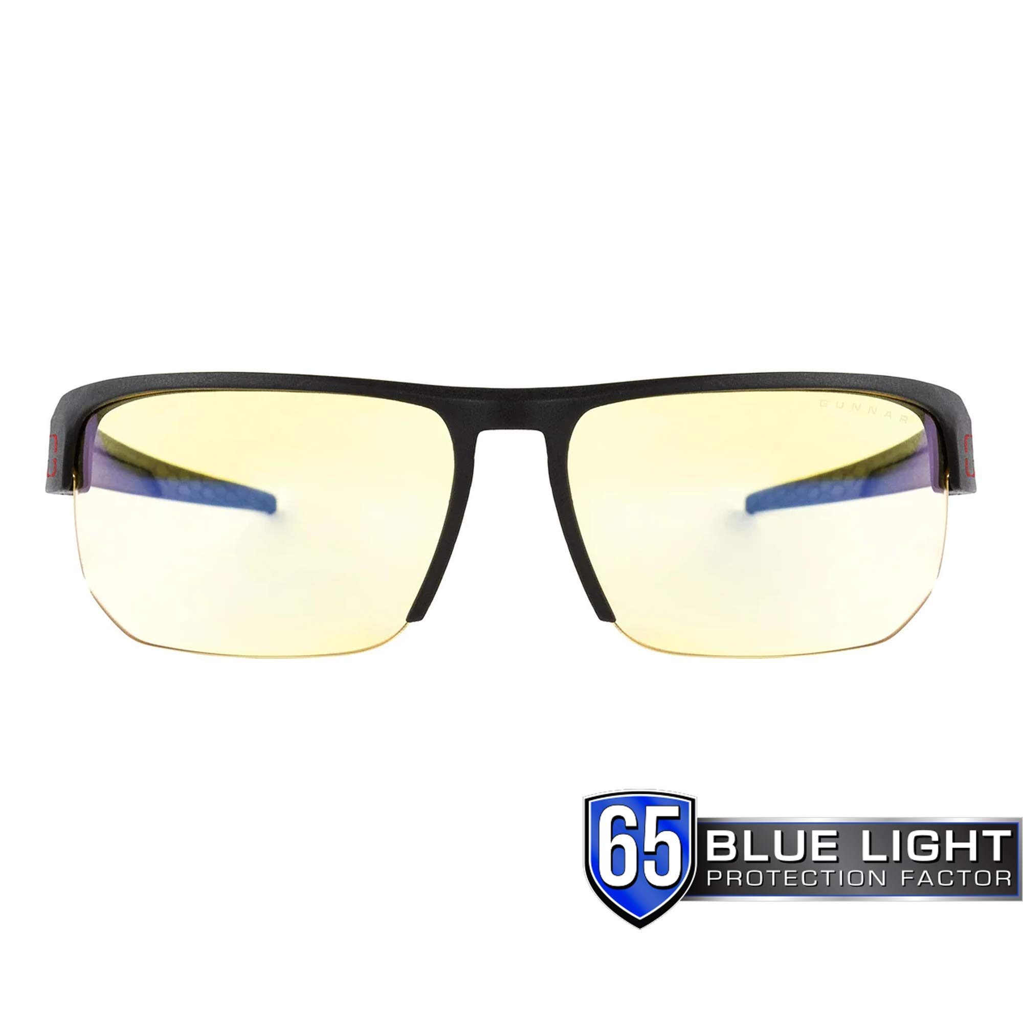 GUNNAR Gaming and Computer Eyewear/Torpedo, Amber Tint - Patented Lens, Reduce Digital Eye Strain, Block 65% of Harmful Blue Light