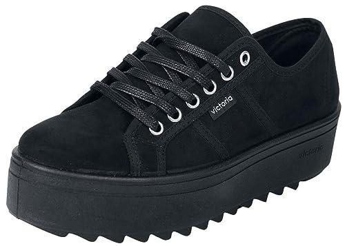 Victoria 09310 - Zapatillas Blucher de Antelina con Plataforma dentada: Amazon.es: Zapatos y complementos