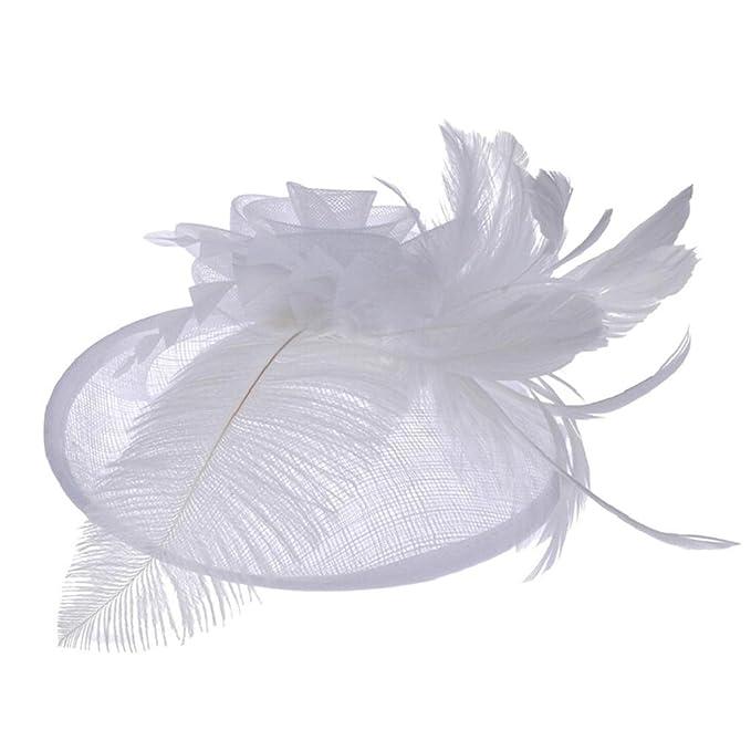 prezzo basso ordina online fornitore ufficiale VICGREY ❤ Donne Cappelli Cerimonia Fiore Retina Piume Velo ...
