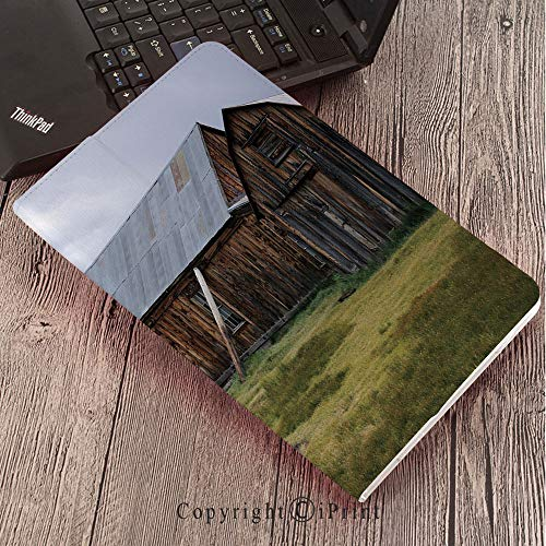 (CaseforSamsungGalaxyT820 T825 Slim Folding Stand Cover PUTabS3 9.7,United States,California Old Barn of A Country House American Rural View,Purplegrey Brown Olive Green)