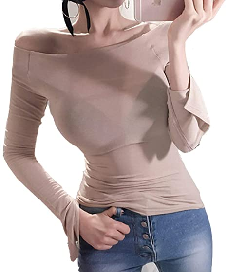 27d9dd87b27bc Sexy Sweater Women Cashmere Feel Luxury Athleisure Beige Knit Gym Workout  Thin Slimming Long Sleeves Rayon