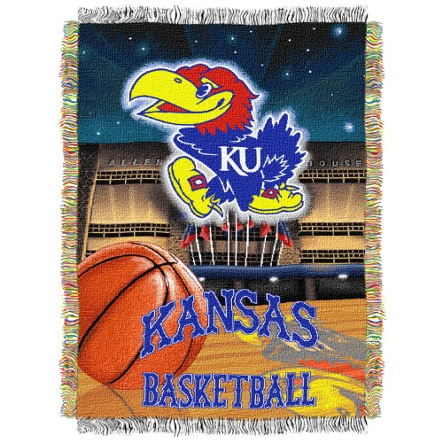 NCAA Kansas Jayhawks 48-Inch-by-60-Inch Acrylic Tapestry Throw (Ncaa Poster)