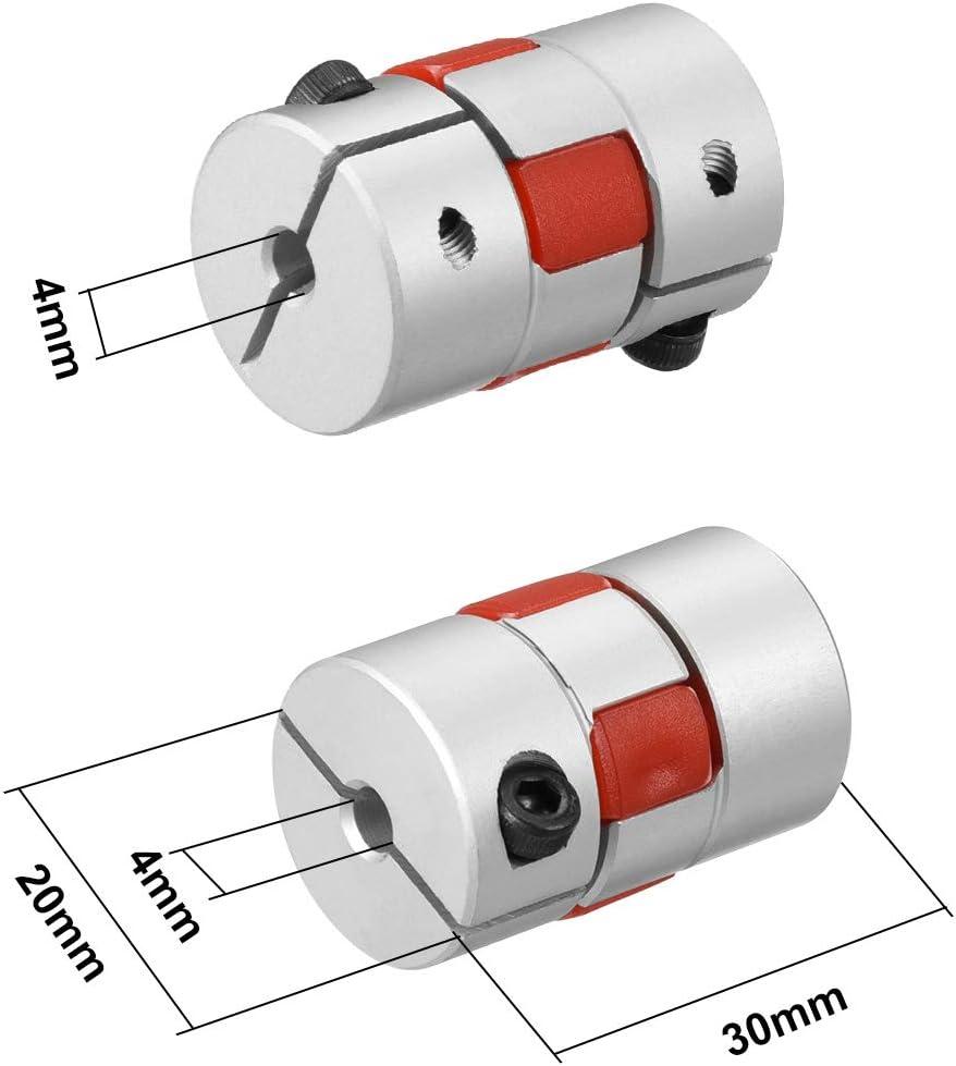 sourcing map Wellenkupplung Flexible Kupplung f/ür Servo Motor 4mm bis 4mm Bohrung L30xD20 DE de