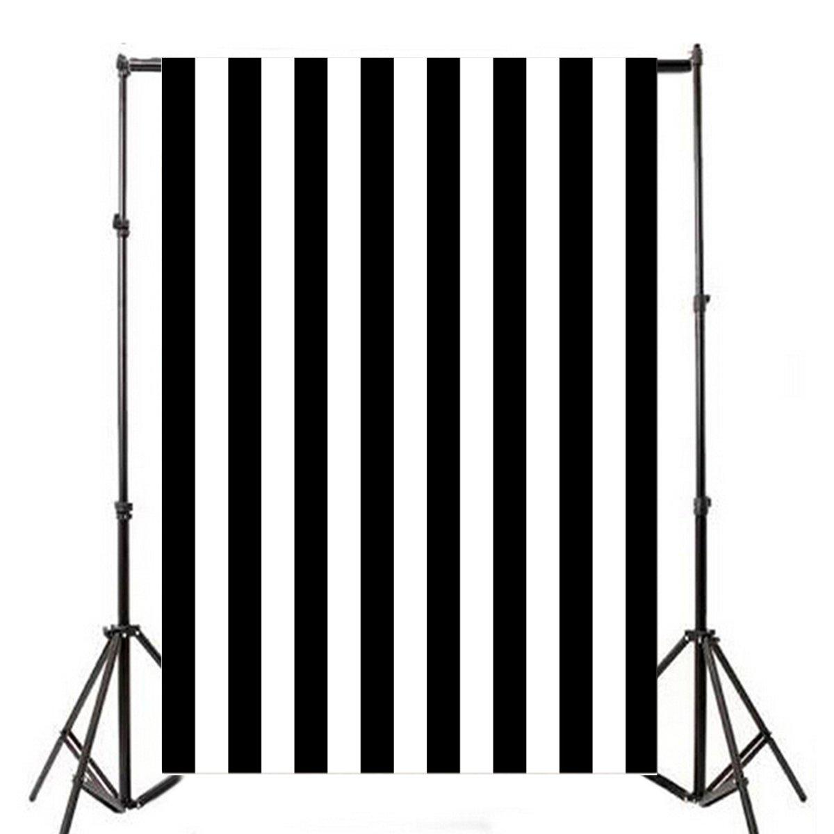 Yeele Photography Backdrops 5x7ft /1.5 X 2.1M Black White Stripe Photo Backdrop Photography Background Studio Props Video Shooting