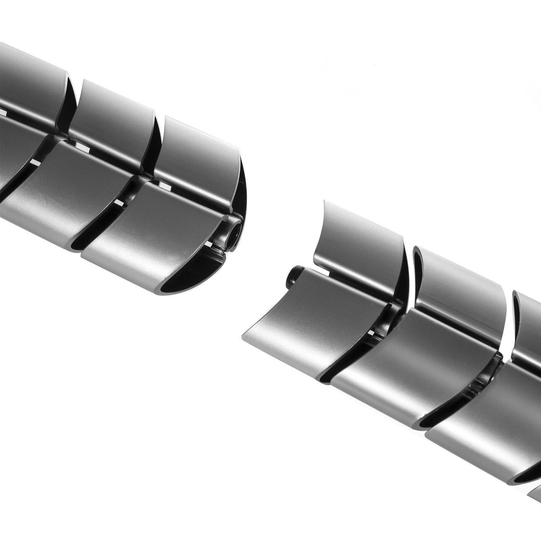 Maclean MC-768 Kabel Organizer Kabelf/ührung Kabelschlauch f/ür Schreibtisch mit L/ängeregulierung Silber
