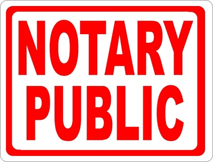 amazon com notary public sign 9x12 metal made in usa notaries