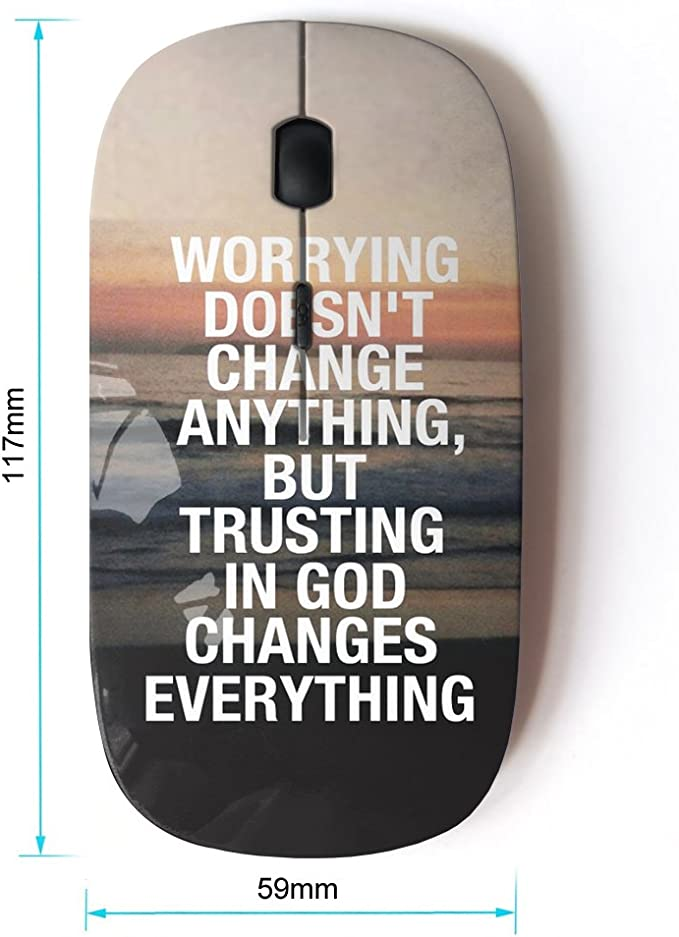 Optical 2.4G Wireless Computer Mouse KOOLmouse BIBLE VERSE GOD IS GOOD
