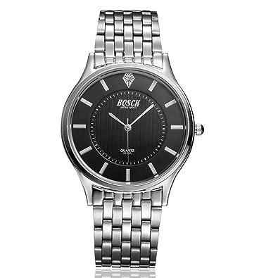 Regalos de empresa joyas Stayoung Classic Dial negro impermeable de cuarzo relojes con correas de acero inoxidable para diferentes de ocasión para hombre ...