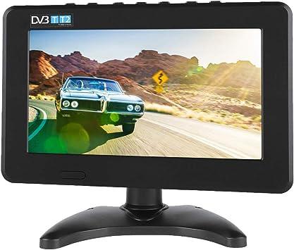 Televisor Digital Para Automóvil, 7in / 9in / 10in Monitor Panorámico, Dvb-T2 1080P Hd Monitor Panorámico Sintonizador De Tv Digital Para Automóvil: Amazon.es: Electrónica