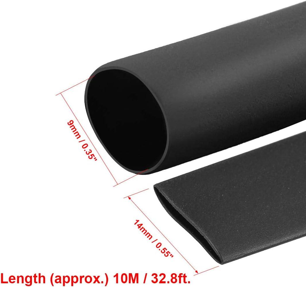 2:1 Elektrische Isolierschlauch Draht-Schlauch 10 m L/änge Sourcingmap Schrumpfschlauch 9 mm Durchmesser