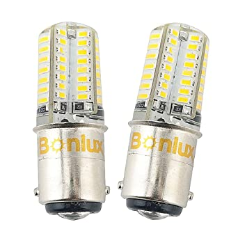2-Packs 1157 BA15D LED Luz Cálida 12V 3W Bombilla Para Coche