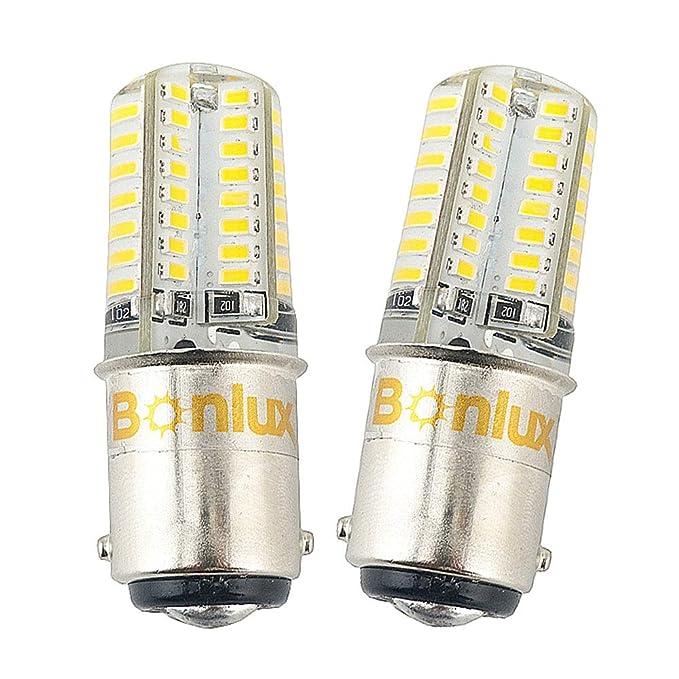 23 opinioni per Bonlux 2-Pack Ba15d LED lampadina 12V bianco freddo 6000K doppio contatto