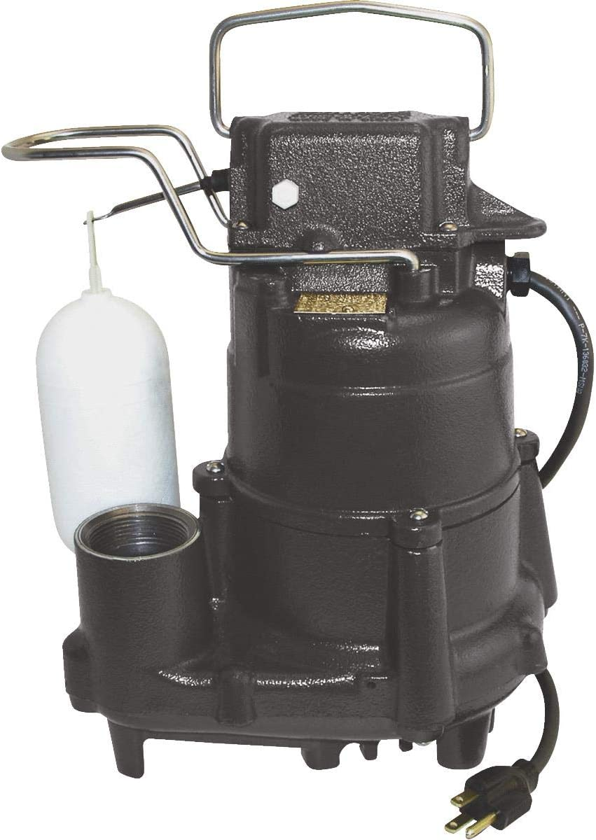 Flint Walling/Star S1098 Cast-Iron Submersible Sump Pump, 1/2hp