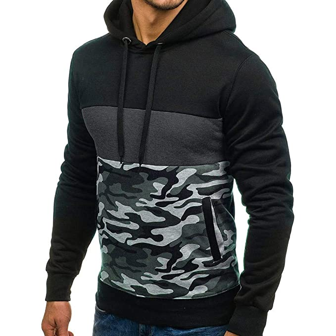 Amazon.com: Mens Casual Lightweight Drawstring Camouflage Pullover Hoodie Spring Autumn Winter Hooded Sweatshirt: Home & Kitchen