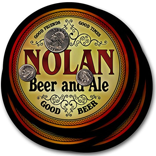 Price comparison product image Nolan Beer & Ale - 4 pack Drink Coasters
