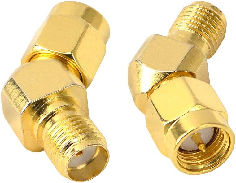 FPV Antenna Adapter SMA Male to Female Antenna Adapter Gold Plated Connector for FPV Race RX5808 Fatshark Goggles Wi-Fi Antenna/Signal Booster/Repeaters/Radio/RF Coaxial Coax Pack of 2