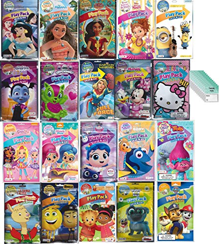 Play Pack Grab And Go (Play Pack Grab and Go Assorted Set For Girls, Princess and Many More (12 Different Packs Guaranteed) and 12