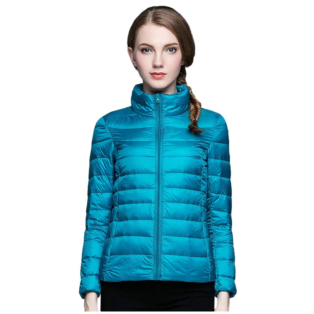 ZOMUSAR Women's Coat, Fashion Women Lightweight Down Jacket Winter Jackets Slim Long Sleeve Overcoat by ZOMUSAR