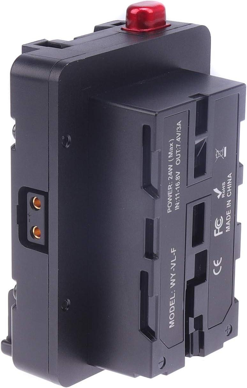 HEDBOX HBP-NPF V-Mount Battery Adapter Converter Plate uses 2X NP-F Type Batteries to Make 14V V-Lock Battery